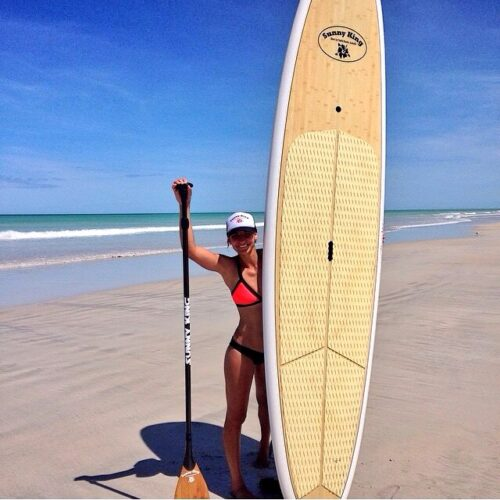 Sunny King Bamboo Series SUP Paddle Board | White